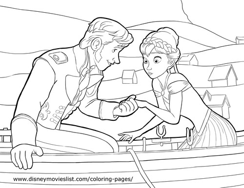 Hans hình nền containing anime called Hans and Anna Coloring Page