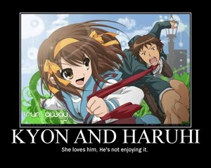 KYON AND HARUHI LOVE