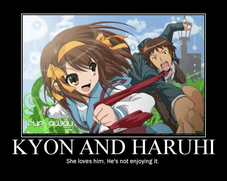 KYON AND HARUHI LOVE