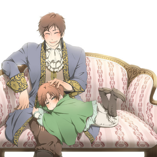 Hetalia Spain fond d'écran called Spain and Little Romano