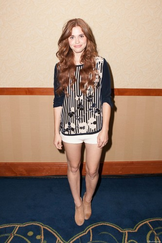 "Holland Roden wallpaper possibly containing bare legs, a sign, and a hip boot entitled MTV's ""Teen Wolf"" fã Appreciation Event"
