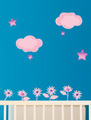 Clouds sticker - home-decorating photo