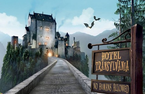 Hotel Transylvania wallpaper probably containing a street entitled hotel transylvania castle