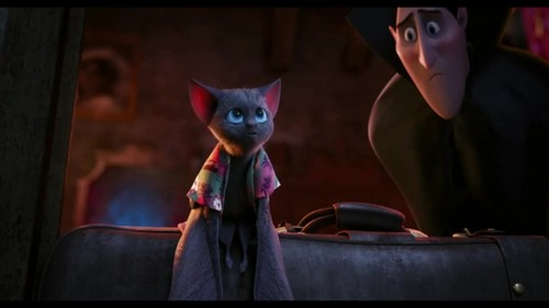 Hotel Transylvania kertas dinding probably containing a jalan and a sign titled Hotel Transylvania {Blu-Ray}
