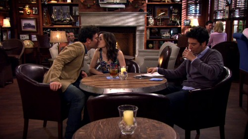 How I Met Your Mother kertas dinding with a restaurant, a brasserie, and a bistro called Ted and his Wife