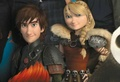 older astrid and hiccup - how-to-train-your-dragon photo