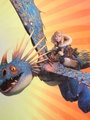 astrid and stormfly - how-to-train-your-dragon photo