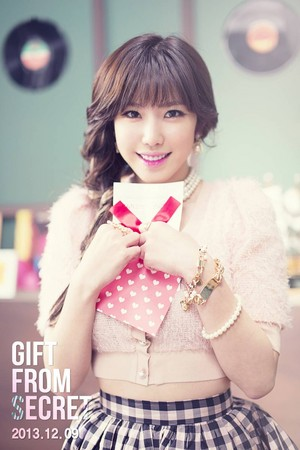 Hyosung teaser for their 3rd single 'Gift From SECRET'