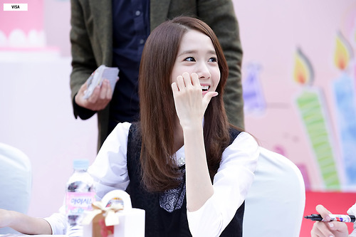 Im yoonA wallpaper probably with a portrait called Lotte Fansign-Yoona