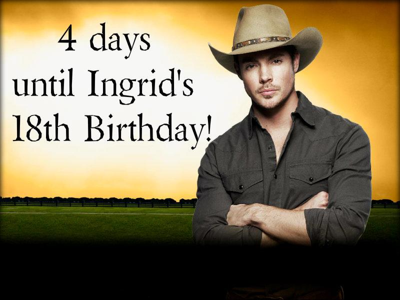 4 days until Ingrid's Birthday....BOOM!