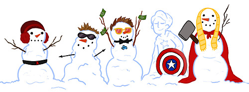 Iron Man Hintergrund entitled The Avenger Snowmen