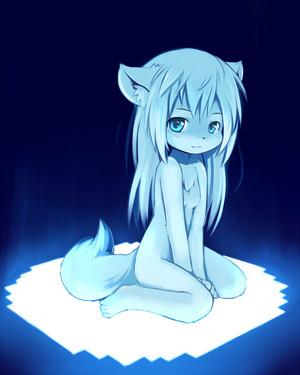 cute blue furry girl
