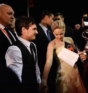 Jen and Josh holding hands