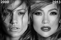JLo then and now before and after 2000, 2013 - jennifer-lopez fan art