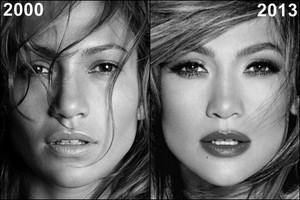 JLo then and now before and after 2000, 2013