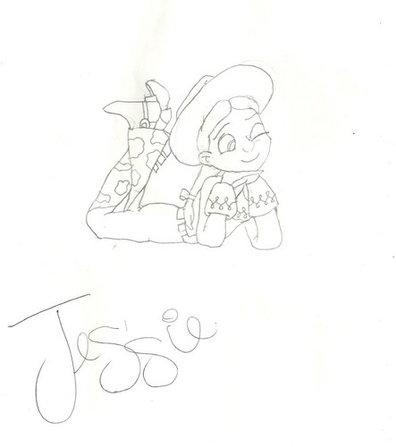 Jessie (Toy Story) wallpaper titled Jessie drawing