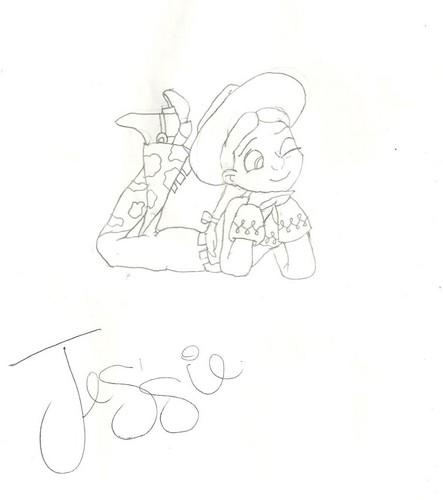 Jessie (Toy Story) Обои called Jessie drawing