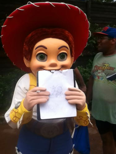 Jessie (Toy Story) Обои titled Jessie with my drawing