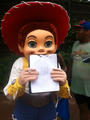 Jessie with my drawing