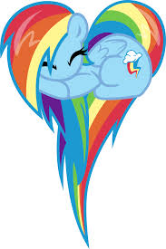 arco iris Dash Like A corazón