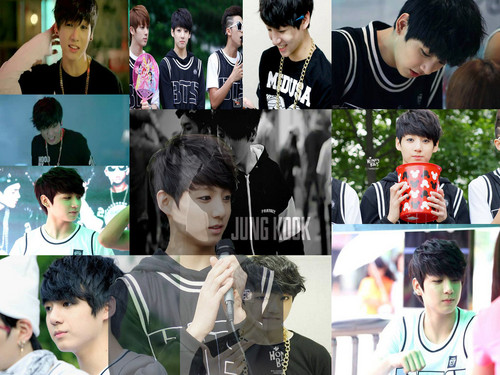 jungkook (bts) wallpaper with a bearskin entitled ♥ º ☆.¸¸.•´¯`♥ Jungkook! ♥ º ☆.¸¸.•´¯`♥