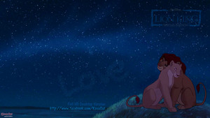 TLK Simba Nala Dark Night pag-ibig wolpeyper HD