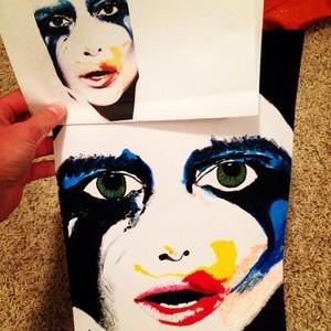 Lady Gaga Acrylic Painting