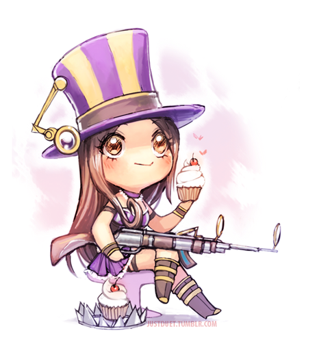 League of Legends images Chibi Caitlyn wallpaper and ...