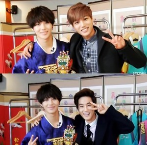 Cute Taemin with Kai and Suho exo