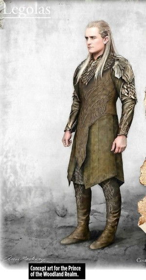 Concept Art of Legolas in The Hobbit