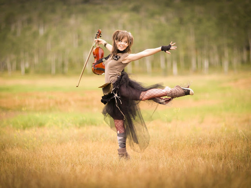 Lindsey Stirling wallpaper with a horse trail, a rifleman, and a horse wrangler titled Lindsey Stirling