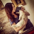 Liz and her dog - liz-gillies photo