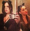 Liz and Ariana as CUTE cats ♥