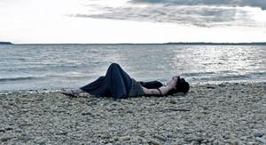 Liz at the пляж, пляжный