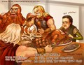 Eating in Asgard - loki-thor-2011 fan art