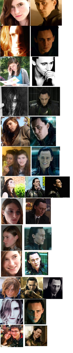 That awkward moment when あなた realise that Loki has been mimicking your プロフィール pictures.