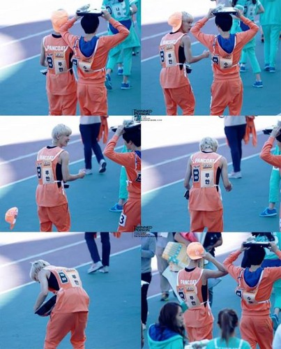 Luhan (루한) wallpaper containing a basketball player and a dribbler titled 130903 Idol Athletics Championship