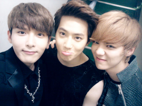 Luhan (루한) wallpaper probably with a portrait entitled Ryeowook, Suho, Luhan