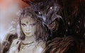 Lady and Demon - luis-royo wallpaper