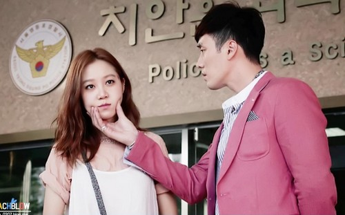 MASTER'S SUN KDRAMA Hintergrund possibly with a well dressed person, an outerwear, and a straße titled master's sun lovely couple