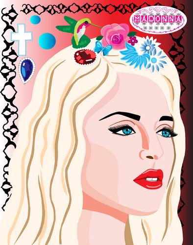 Madonna fond d'écran titled Jackie Besteman illustrates Madonna