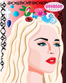 Jackie Besteman illustrates Madonna - madonna fan art
