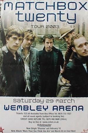 GIANT Matchbox 20 konsiyerto Tour 2003 Original Promotional Poster Print RARE