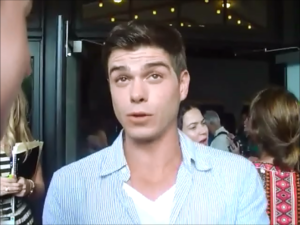 Matthew Lawrence looking up