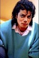 MJ - in blue - michael-jackson photo