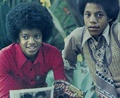 Michael And Older Brother, Marlon - michael-jackson photo
