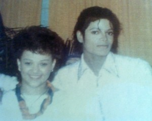 Michael And Stacy Lattisaw Backstage During Victory Tour