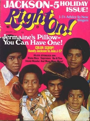 The Jackson 5 On The Cover Of Right On! Magazine