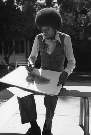 Michael Working On A Drawing