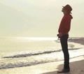 Michael Enjoying A Somber At The Beach - michael-jackson photo